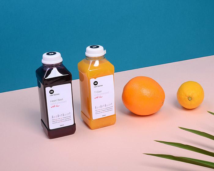Raw Fairies果汁包装设计