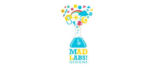 标志设计元素运用实例:实验烧杯