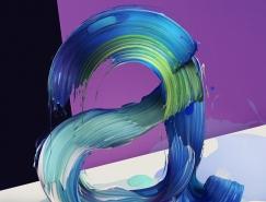 Pawel Nolbert创意3D艺术字体设计