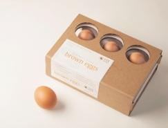 精致极简风格的鸡蛋包装设计
