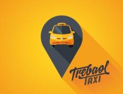 标志设计元素运用实例:出租车