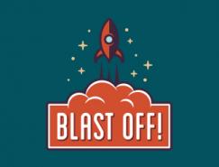 标志设计元素运用实例:火箭(三)