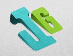 标志设计元素运用实例:3D文字