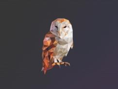 45款低多边形风格动物logo设计