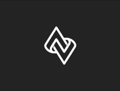 Angelo Vito重叠和扁平化效果logo设计