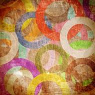 彩色斑驳环形背景图片