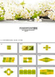 桃花朵朵ppt模板
