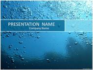 梦幻蓝色水滴背景PPT模板