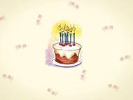 卡通儿童生日蛋糕PPT模板