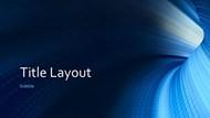 蓝色时尚科技PPT模板