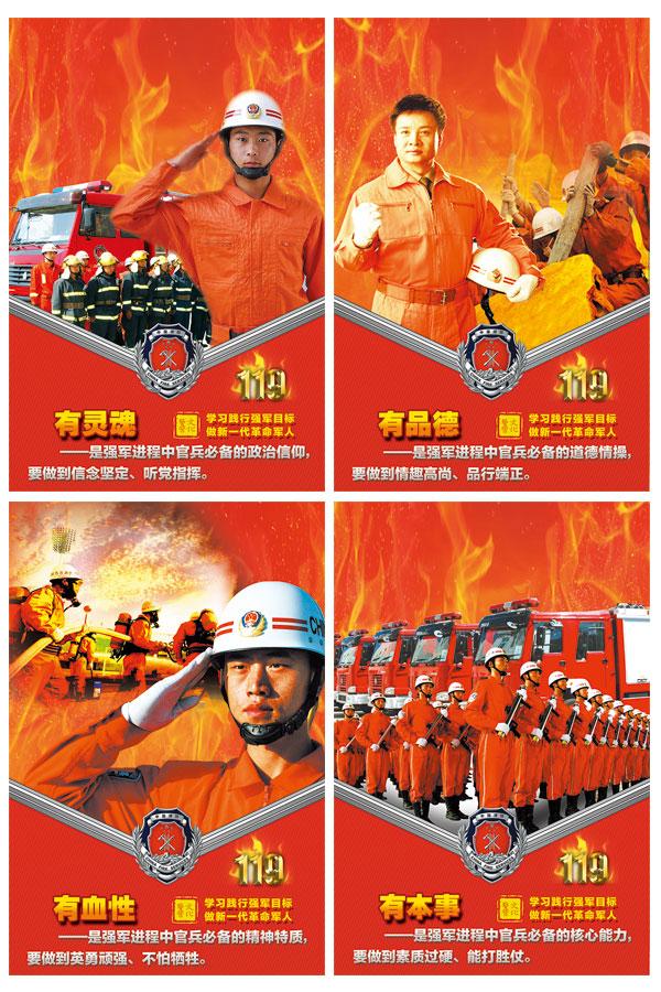 消防知识展板PSD图片