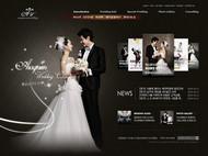 婚纱店网站PSD图片
