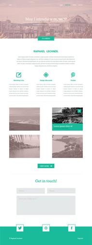 简约网站模板PSD图片