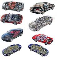 汽车内部结构图PSD图片