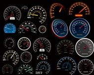 汽车仪表盘图片PSD图片