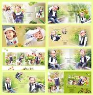优雅女孩儿童相册PSD图片