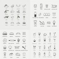 线性美食图标矢量图片