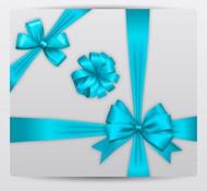 蓝色蝴蝶结矢量图片