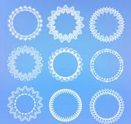 白色蕾丝圆环矢量图片