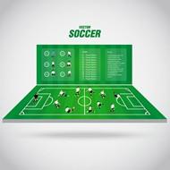 足球赛插画矢量图片