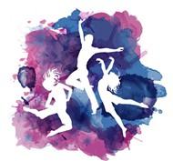 舞蹈人物剪影矢量图片