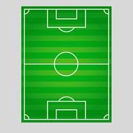 足球场俯视图矢量图片