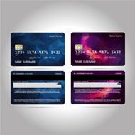 晶格花纹信用卡矢量图片