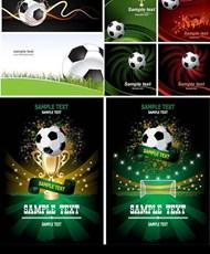 足球海报矢量图片