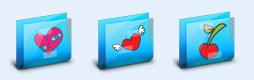 蓝色水晶卡通图标