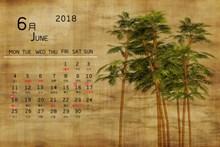 2018年6月份日历图片下载