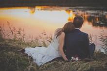 蔚蓝海岸婚纱照图片素材