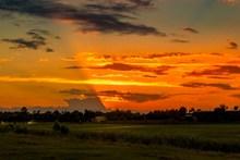 户外日落景观图片下载