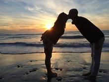 男女海边接吻 男女海边接吻大全精美图片