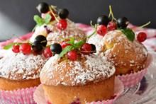 美味松饼小蛋糕高清图片