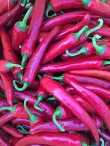 新鲜红色辣椒高清图