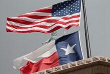 美国得克萨斯州国旗图片