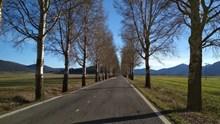 冬季郊区道路风景高清图片