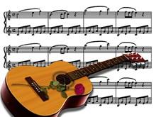 吉他音符乐谱图片素材