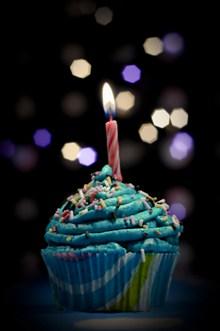 蓝色纸杯小蛋糕精美图片