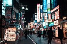 城市道路灯光夜景高清图
