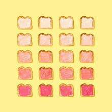 卡通面包片黄色背景图片