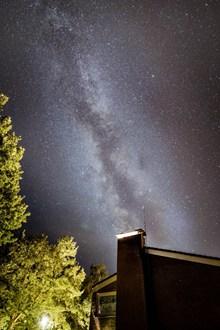 农村夜晚星空真实精美图片