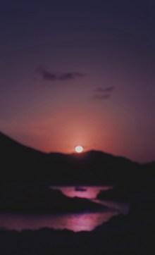 黄昏海边夕阳残阳高清图