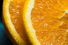 黄色橙子切片图片大全