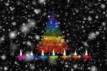 圣诞元素背景素材精美图片