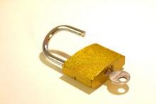金色锁头图片素材