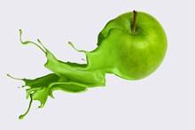 另类创意绿色苹果图片大全