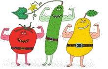 另类卡通蔬菜图片下载