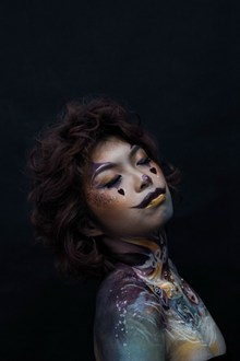 彩绘女人人体艺术图片下载