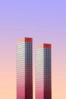 两栋商业大楼精美图片